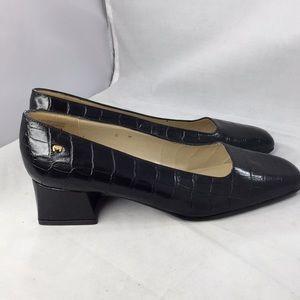 Etienne Aigner Alligator leather low heel Class 6M